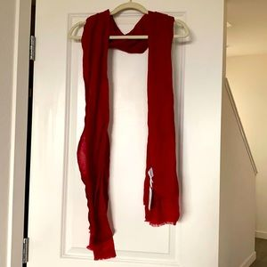 NWT Cashmere Scarf Red